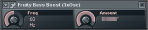 FL Studio Fruity bass boost settings for sub bass