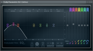 FL studio Parametric EQ2 settings for sub bass