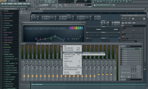 assigning tracks to the mixer fl studio