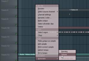 automate volume fl studio